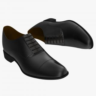 Man Shoes 2 Black 3D