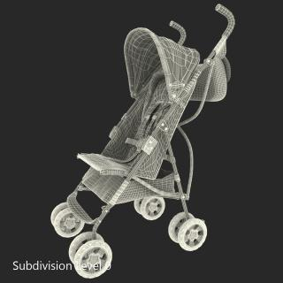 3D model Baby Stroller Orange