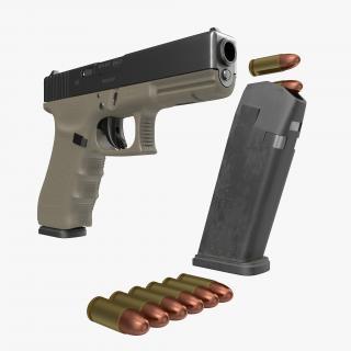 3D model Glock 17 Semi Automatic Pistol