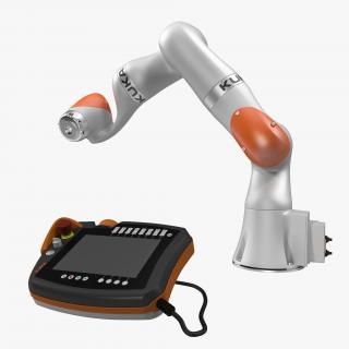Kuka Robot LBR IIWA 7 R800 Set Rigged 3D