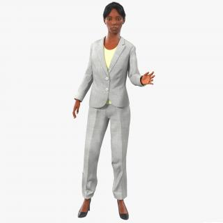 3D model Business Woman African American Rigged 2