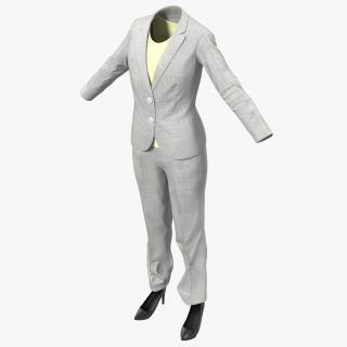 Women Workwear Suit 3D model