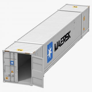 53 ft Shipping ISO Container White 3D model