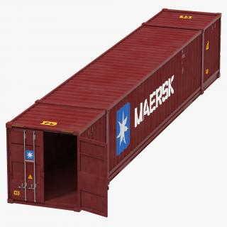 53 ft Shipping ISO Container Red 3D