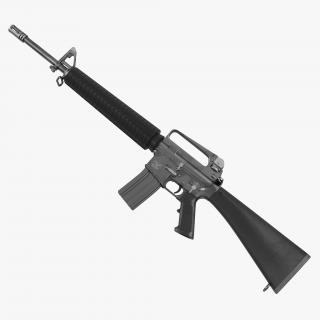 Assault Rifle M16 3D