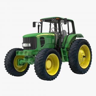 3D Tractor John Deere 7330 model