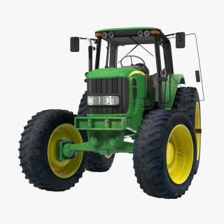 3D model Tractor John Deere 7330 Rigged