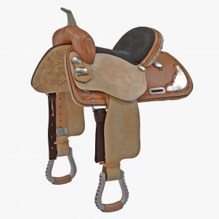3D model Barrel Saddle 5