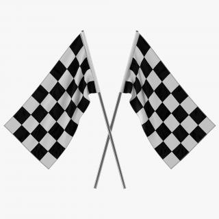 3D Racing Flag 3 model