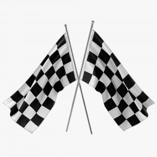 3D Racing Flag 4 model
