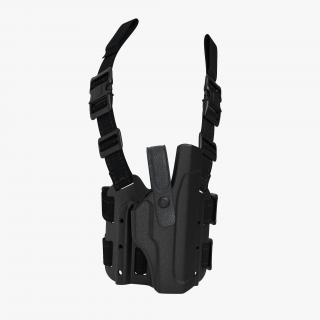 Tactical Leg Pistol Holster 2 3D model