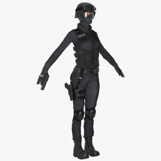3D SWAT Woman Asian