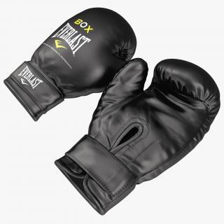 3D Boxing Gloves Everlast Black model