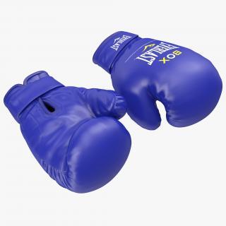 Boxing Gloves Everlast Blue 3D
