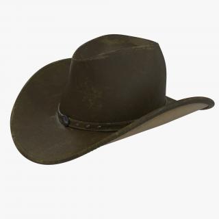 3D Old Cowboy Hat 2