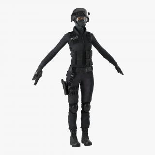 SWAT Indian Woman 3D