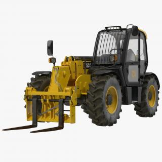 3D model Telescopic Handler Forklift JCB 535 95 Yellow
