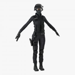 SWAT Woman 1 3D
