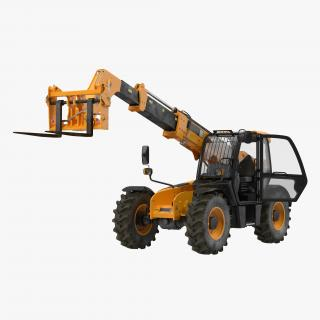 Telescopic Handler Forklift Generic Rigged 3D