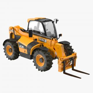 3D model Telescopic Handler Forklift JCB 535 95 Orange