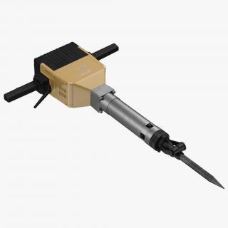 3D Electric Demolition Jack Hammer 2 model