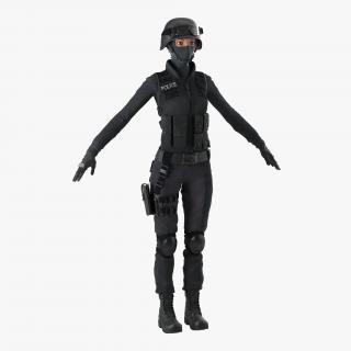 SWAT Indian Woman 2 3D model