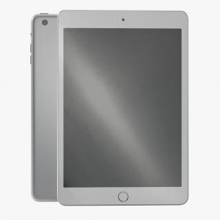 3D iPad mini 3 Silver model