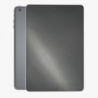 iPad Mini 3 Space Gray 3D
