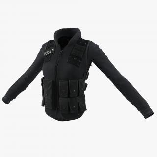 3D model SWAT Woman Uniform 6