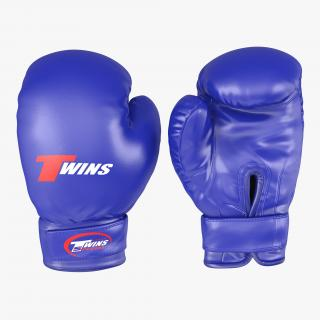 Boxing Gloves Twins Blue 3D model