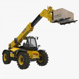 Telescopic Handler Forklift JCB 535 95 Yellow 2 3D