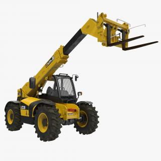 Telescopic Handler Forklift JCB 535 95 Yellow 3 3D