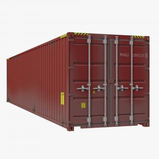 3D 40 ft ISO Container Red model