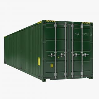 3D model 40 ft ISO Container Green