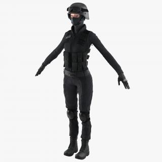 3D SWAT Woman European 2