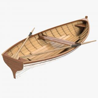 3D Rowing Boat 3 model