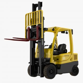 Forklift Toyota Rigged 3D