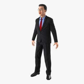 Asian Businessman Rigged 3D model
