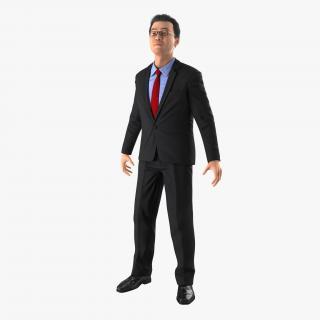 3D Asian Businessman Rigged 2