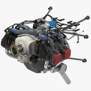 Piston Aircraft Engine ULPower UL260i 3D