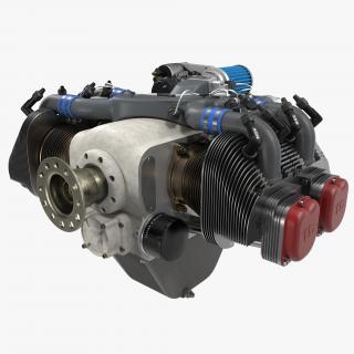 Piston Aircraft Engine ULPower UL260i 2 3D model