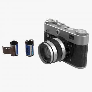 3D Vintage Film Camera 3D Models Set model