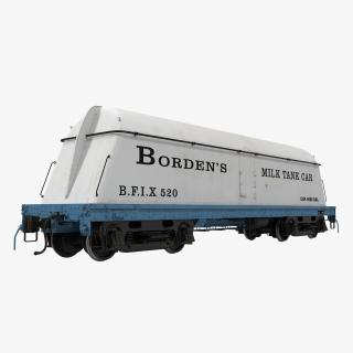 3D Bordens Milk Tank Car