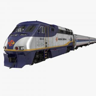 3D Diesel Electric Train Amtrak model
