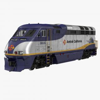 3D Diesel Electric Locomotive F59 PHI Amtrak