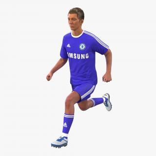 3D model Soccer Player Chelsea Rigged 2