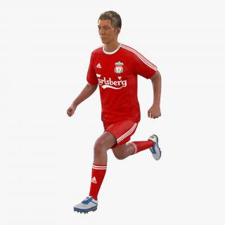 Soccer Player Liverpool Rigged 2 3D