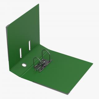 Open Ring Binder Green 3D