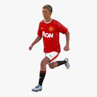 3D Soccer Player Manchester United Rigged model