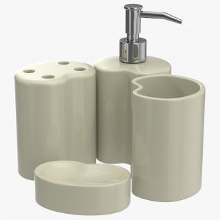 3D Bathroom Accessories 3D Models Set 2